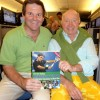 Bud Collins, right, with Randy Walker, this story's author and the publisher of THE BUD COLLINS HISTORY OF TENNIS