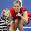 Kim Clijsters with daughter Jada at 2009 US Open