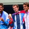 Juan Martin del Potro, Andy Murray and Roger Federer