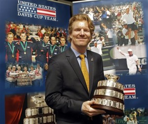 US Davis Cup Captain Jim Courier