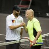 James Blake and Andre Agassi