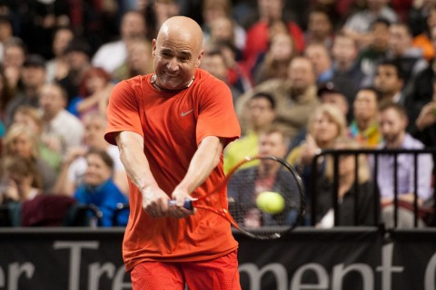 Agassi Ends Blake Run With PowerShares Series Title In Portland