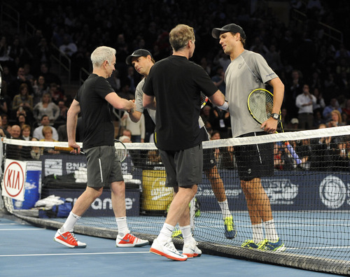 McEnroes Narrowly Avoid Shutout Loss to Bryans at BNP Paribas Showdown at Madison Square Garden