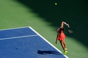 Roberta Vinci on Ashe Stadium
