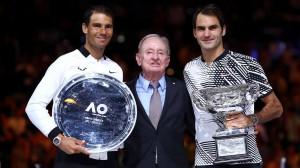 Rafael Nadal, Rod Laver, Roger Federer